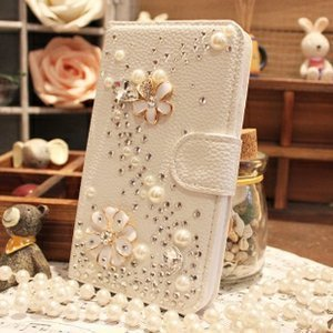Galaxy S7 Edge Wallet Case, UnnFiko Handmade Luxury 3D Bling Crystal Rhinestone Leather Purse Flip Card Pouch Stand Cover Case for Samsung Galaxy S7 E…