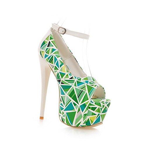 Adee - Sandalias de vestir para mujer Verde