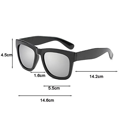 Film Square Femeninas Black UV UVB Anti de The Polarizer Moolo HLMMM Box The Driver Drive de Sol Glare Retro UVA Gafas Color Gafas con Color Black miopes Sol dark blue Gafas frame Frame Hombres black Iwp0cczq