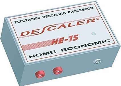 Descalcificador de agua electrónico descaler HE-15 es un potente inhibidor de cal domestico facil