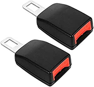 Car Seat Belt Extender, Universal Vehicle Buckle Insert Clips, Extenders for Cars 2 Pack
