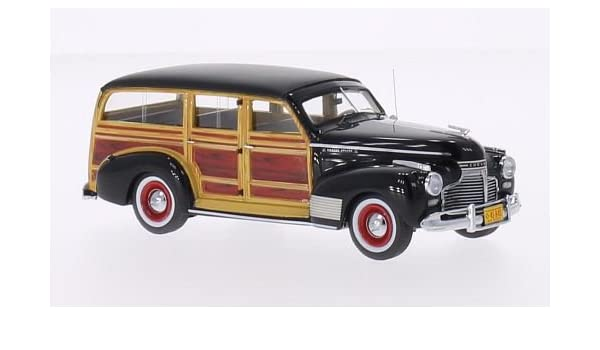 04e90ffd4 Amazon.com: Chevrolet Deluxe Station Wagon, black/wooden optic, 1941, Model  Car, Ready-made, Neo 1:43: Neo: Toys & Games