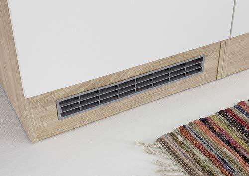 B//H//T Stella Trading Andy K/üche Sonoma-Wei/ß, 270 x 195 x 60 cm K/üchenblock ohne E-Ger/äte Holzdekor