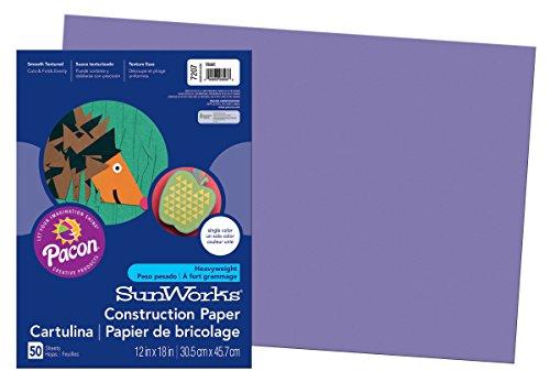 SunWorks Construction Paper, Violet,  12