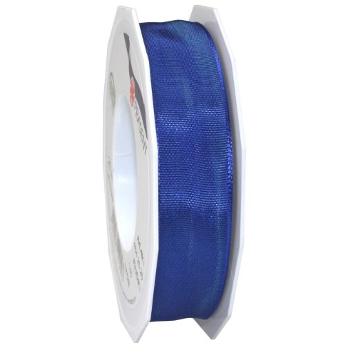 Morex Ribbon French Wired Lyon Ribbon, 1-Inch by 27-Yard Spool, Surfside Blue
