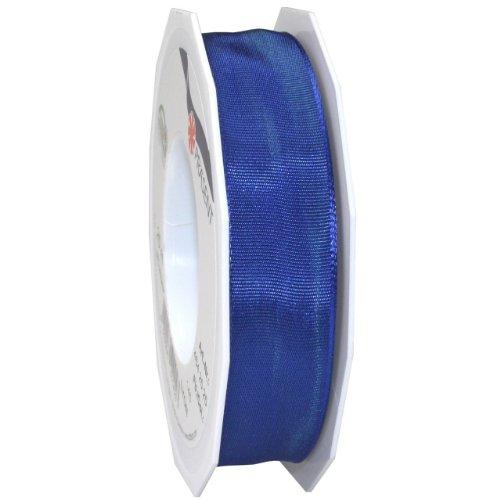Morex Ribbon French Wired Lyon Ribbon, 1-Inch by 27-Yard Spool, Surfside Blue