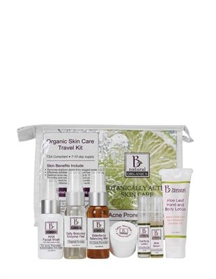 Acne Prone Skin 7 Piece (Be Natural Organics Acne-Prone Travel Collection (7-Piece Skin Care Collection))