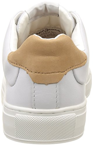Pepe Jeans London Adams Basic, Zapatillas para Mujer Blanco (White)