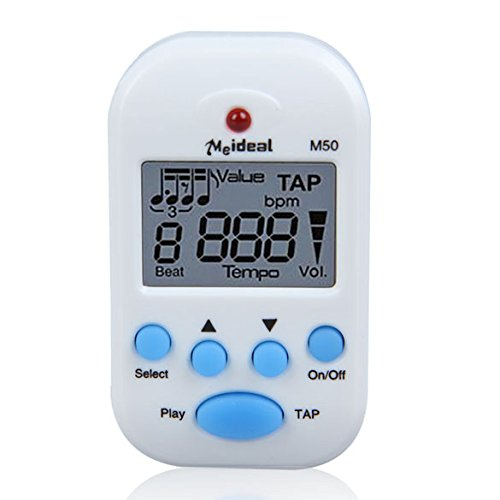M50 Professional LCD Clip-on Digital Tuner Metronome for Gui