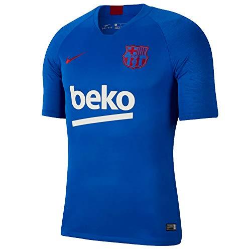 Nike 2019-2020 FC Barcelona Breathe Strike Top (Lyon Blue) (M)