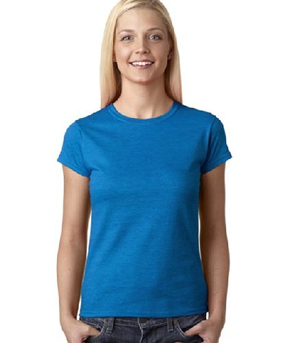 930772fbac39c1 Amazon.com : Gildan Ladies Soft Style Short Sleeve T-Shirt (XL) (Antique  Sapphire) by Gildan : Sports & Outdoors