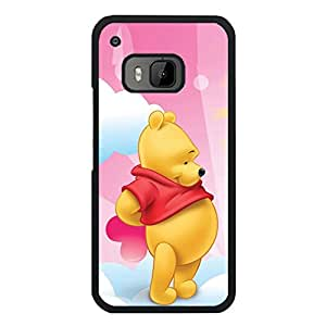 Htc One M9 Protective Cover Case with Creative Pooh Bear Cartoon Pattern,Pooh Bear Anime Element Logo Protect Skin