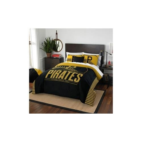 The Northwest Company MLB Pittsburgh Pirates Grandslam Full/Queen Comforter and 2 Sham Set