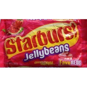 Starburst Fave Reds Jelly Beans, 14-ounce Bag (Pack of 3) ()