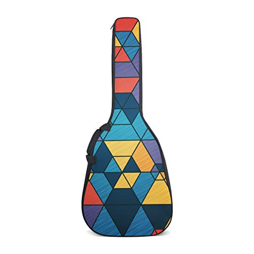 BENNIGIRY Color Geometric Pattern Print Electric Guitar Bags Cases with...