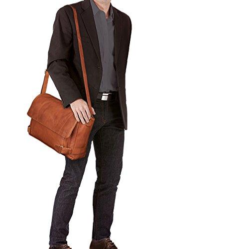 STILORD 'Luca' Borsa da Postino Vintage Design Uomo Donna Business Borsa per il portatile 15.6 pollici, Colore:cognac-marrone cognac-marrone
