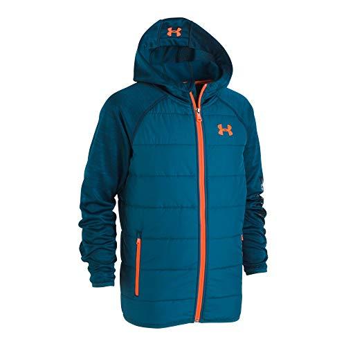 Under Armour Boys Jacket - Under Armour Boys' Little Day Trekker Hooded Hybrid Jacket, Techno Teal, 5
