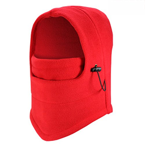 Dickie Balaclava - Winter Ski Full Face Mask Cover Hat Cap Motorcycle Thermal Fleece Balaclava Neck (Color: Red)