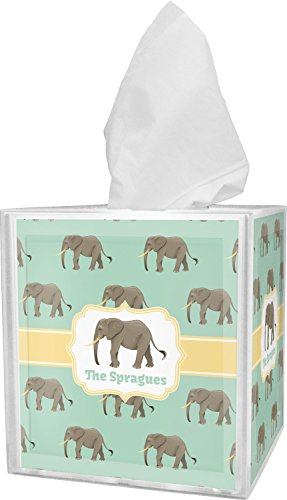 Box Tissue Safari Cover (RNK Shops Elephant Tissue Box Cover (Personalized))
