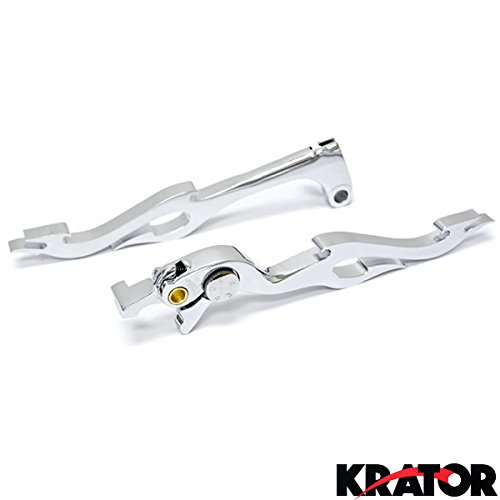 Krator Chrome Clutch + Brake Flame Hand Levers Controls For 1999-2003 Yamaha YZF R1