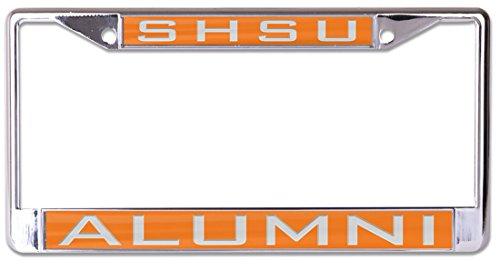 WinCraft Sam Houston State University Alumni Premium License Plate Frame, metal with inlaid acrylic, 2 mount holes by WinCraft