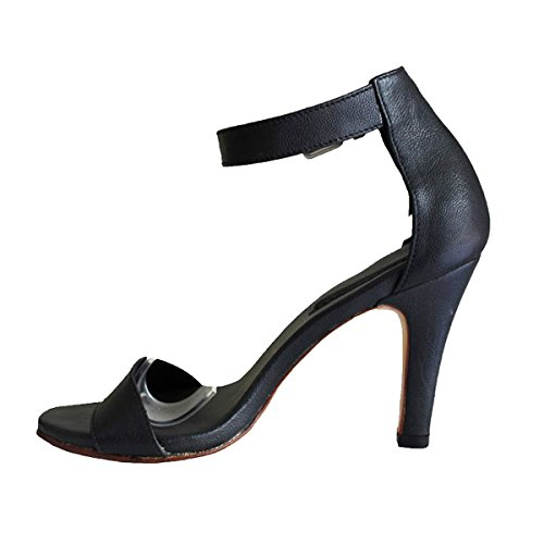 Mujer Otra Vestir Piel 11sunshop Zapatos de negro de 76xvwf