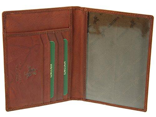 De De Carpeta 2201 Cubierta Caso Pasaporte Del Visconti Genuina fucsia Marrón Crédito Titular La De Cuero Tarjeta Y pwXftnYqW