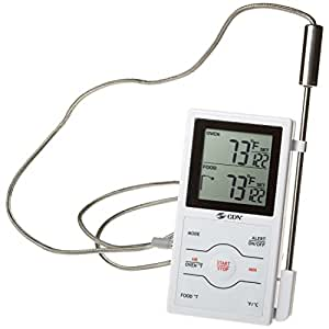 CDN Digital Thermometer Meat Probe Kitchen Cooking Dual Sensing White New