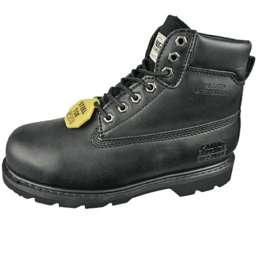 WOMENS+SAFETY+STEEL+TOE+LEATHER+WORK+BOOT+%287.5D+US%29