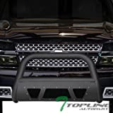 2005 chevy avalanche grill guard - Topline Autopart Matte Black Studded Mesh Bull Bar Brush Push Front Bumper Grill Grille Guard With Skid Plate For 99-07 Chevy Silverado / 00-06 Suburban / Tahoe ; 99-07 GMC Sierra / 00-06 Yukon 1500