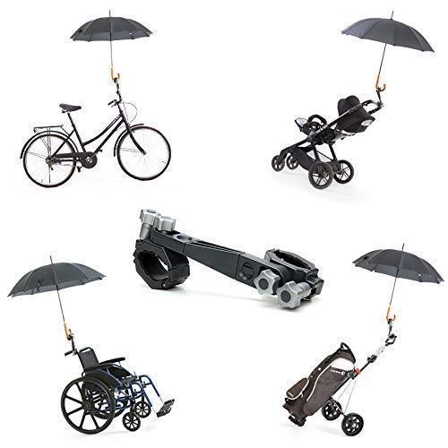 Porta Paraguas Universal y desmontable de Jicaclick   Sujeta paraguas universal para carro de bebé, silla de ruedas, carrito de golf, bicicleta, ...