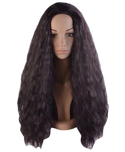 Angelaicos Unisex Wavy Halloween Costume Full Wig Long Dark Brown (Women's Wig) (Dark Princess Costume)