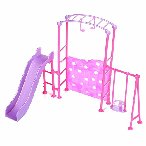 HITSAN Slide Swing Set Accessories Dollhouse Doll Furniture One Piece (Furniture Paladin)