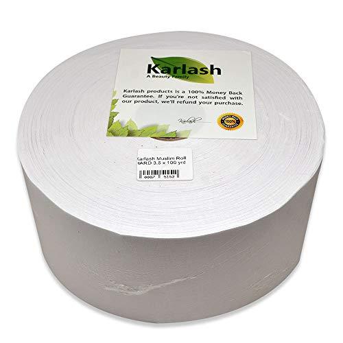 Karlash Premium Muslin Waxing Roll Hard 3.5 x 100 yrd