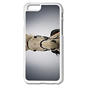 Fashion White Horse Portrait Pc Case For IPhone 6