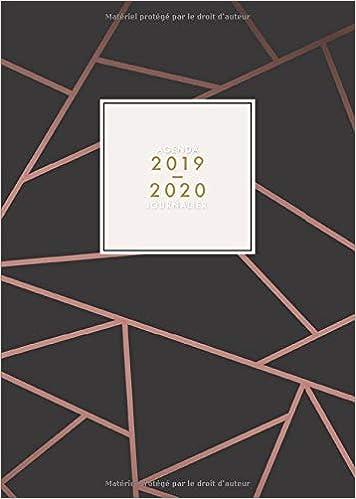 Amazon.com: Agenda 2019/2020 Journalier: Juillet 2019 à ...