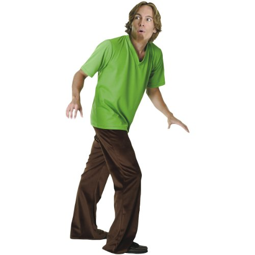 [Scooby-Doo Deluxe Adult Shaggy Costume, SHAGGY, Standard Size] (Shaggy Wig)