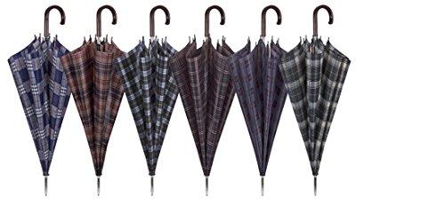 Perletti perletti12115 Gent Golf 65/8 Scottish Design Umbrella, Multi-Color