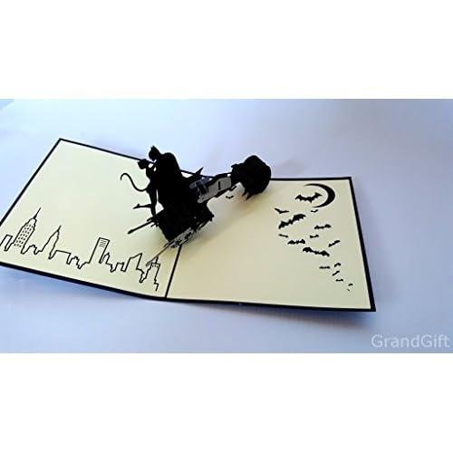On Sale Batman 3d Laser Cut Pop Up Vintage Cartes De Voeux Faite La Main