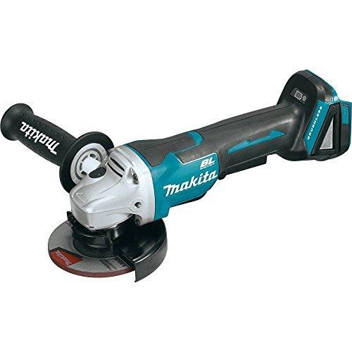 Makita XAG06Z 18V LXT Lithium-Ion Brushless Cordless 4-1 2 Paddle Switch Cut-Off Angle Grinder Kit, Tool Only by Makita