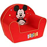 Disney Fauteuil Décor Happy Mickey Mouse Rouge