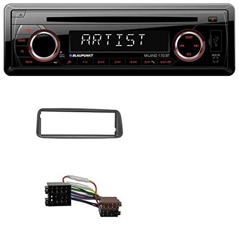 caraudio24 Blaupunkt Milano 170 BT SD Bluetooth USB MP3 CD Autoradio fü r Peugeot 206 (ab 1998)