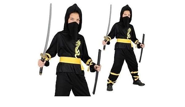 Disfraz Dragón Ninja. Talla 4/6 años. Contiene: Mono ...