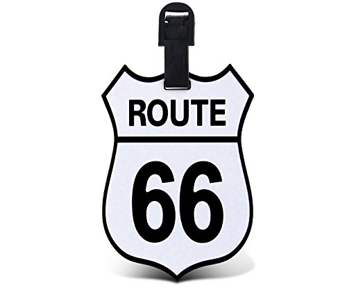 Puzzled Route 66 TAGGAGE! Easy Identification Luggage Tag for all types of Luggage - Famous Sites Theme - 3.5x5 INCH (Luggage Tag Theme)