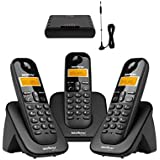 Kit Telefone sem fio TS 3113 Com Interface Celular Intelbras