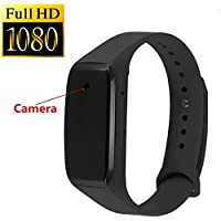 Romhn 8G 1080P Full HD Buckle Bracelet Spy Camera Nanny Covert Smart Wristband Camera DV-Adjustable Wristband Style