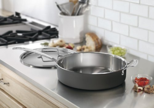 Cuisinart MCU33-30HN MultiClad Unlimited Dishwasher Safe 5-1/2-Quart Saute with Helper Handle & Cover by Cuisinart (Image #1)