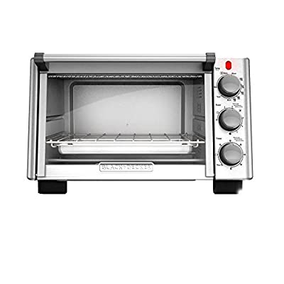 BLACK+DECKER 6-Slice Convection Countertop Toaster Oven, Stainless Steel/Black