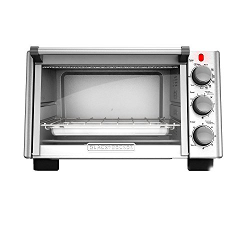 BLACK+DECKER TO2050S 6-Slice Convection Countertop Toaster Oven, Includes Bake Pan, Broil Rack & Toasting Rack, Stainless Steel/Black Convection Toaster Oven (Black And Decker Toast Oven compare prices)