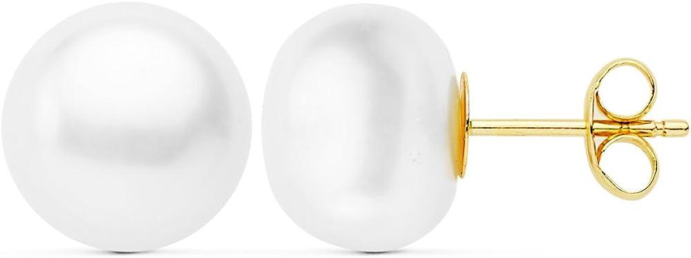 Pendientes de mujer perlas 10mm Oro amarillo 18k